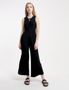 Black My Heart Beats Forever Jumpsuit