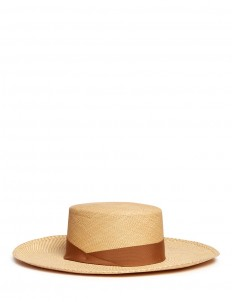Toquilla straw boater hat