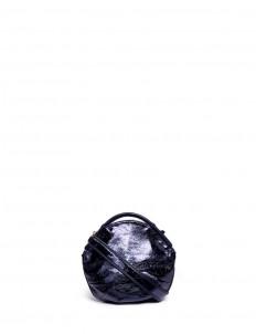 'Petal Miniature' colourblock metallic leather bag