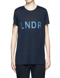 Reflective logo slub jersey T-shirt