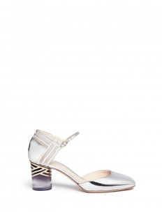 'Zaha' ombré cylindrical heel mirror pumps