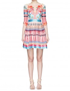 'Mini Aura' floral embroidered organza dress