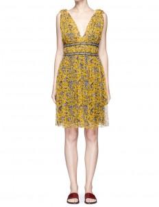 'Balzan' floral print silk chiffon dress
