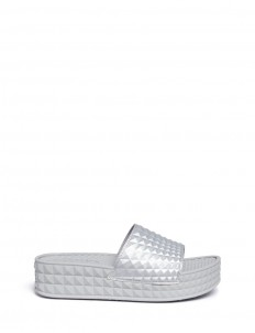 'Scream' prism foam rubber platform slide sandals