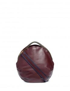 'Petal Pure' split handle colourblock leather bag