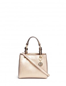 'Cynthia North South' small leather satchel