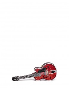'Red Devil' guitar crystal pavé minaudière