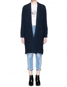 Front strap frayed edge cardigan