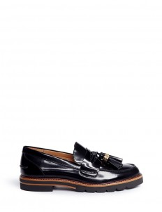 'Manila' tassel leather penny loafers