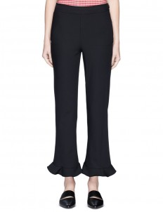 'William Circle' ruffle cuff cropped pants