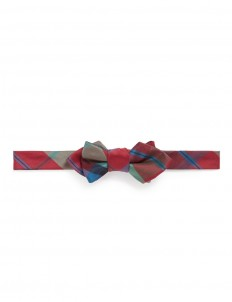 Tartan plaid silk bow tie