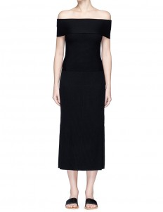 'Marbella' off-shoulder rib knit dress