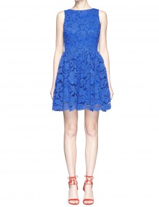 'Ginger' textured floral guipure lace dress