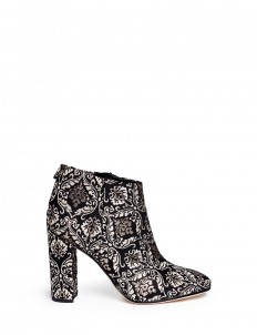 'Cambell' floral damask ankle boots