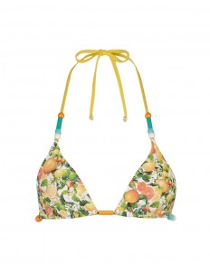 'Iconic Prints' citrus triangle bikini top