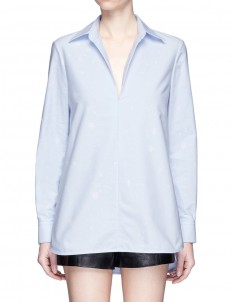 Bleached effect cotton tunic