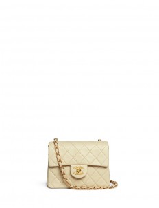 Mini quilted lambskin leather flap bag