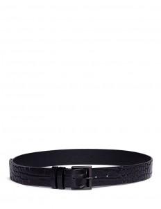 Croc embossed leather belt