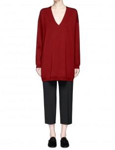 'Maru' oversized V-neck sweater