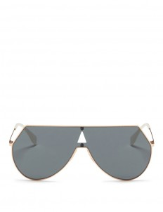 Metal flat aviator sunglasses