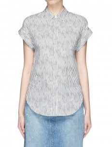 'Ara' stripe tie back blouse