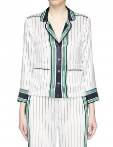 x Kate Moss 'Lake' stripe print silk pyjama shirt