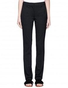 Slim fit virgin wool suiting pants