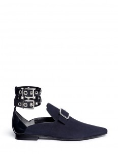 x Robert Clergerie 'Lolli'' double ankle strap suede slip-ons