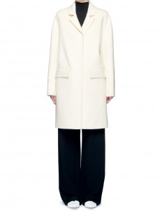 Notched lapel wool coat