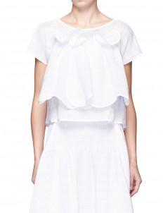 'Supernatural' ruffled front peplum blouse