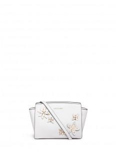'Selma' medium floral embellished messenger bag