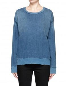 'The Ivy League' cotton denim sweatshirt