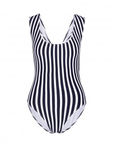 'Jireh' stripe one-piece swimsuit