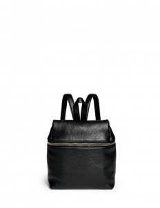 Small pebbled leather backpack