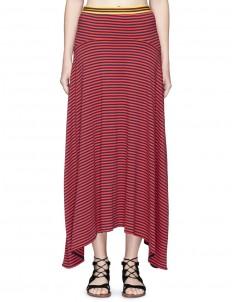 Stripe midi jersey skirt