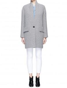 'Edilon' wool blend herringbone coat