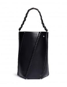 'Hex' medium whipstitch leather bucket bag
