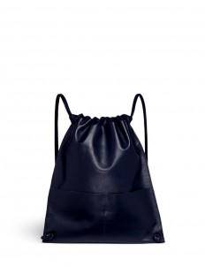 'Draw Pack 01' leather drawstring backpack