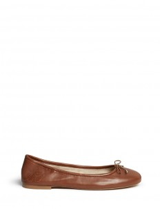 ''Felicia' leather ballerina flats