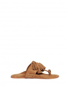 'Scaramouche' tassel braided leather thong sandals