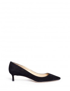 'Romy 40' kitten heel suede pumps
