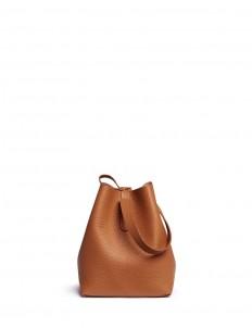 'Apple' small leather shoulder bag