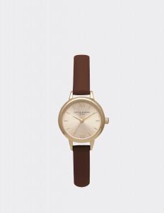 Brown & Gold Mini Dial Watch