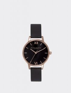 Black & Rose Gold Midi Dial Watch