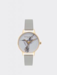 Gray & Gold Hummingbird Watch