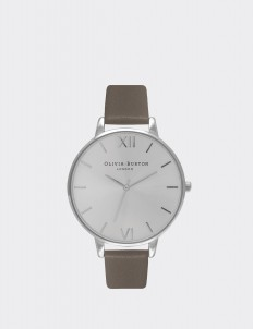 Gray & Silver London Big Dial Watch