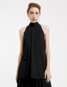 Black Liza Ribbon Top