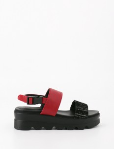 Red Black Minora Sandal