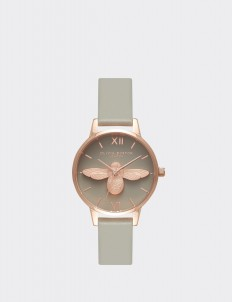 Gray & Rose Gold Midi Moulded Bee Watch