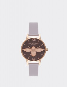 Gray Lilac & Rose Gold Moulded Bee Watch